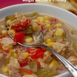 Skinny Slow Cooker Southwest Chicken Soup Recipe