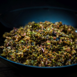 skinnymixer's Bacon and Brussels sprout