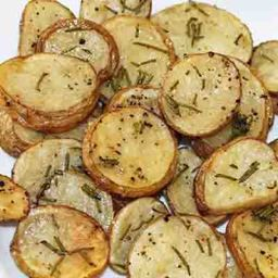 Skinny Rosemary Parmesan Oven Potatoes