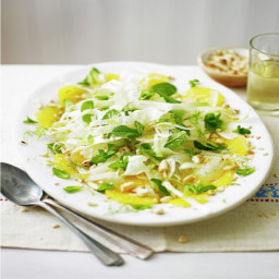 Sliced fennel, orange & almond salad