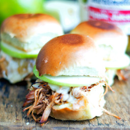 Slow Cook Apple Butter Chicken Sliders