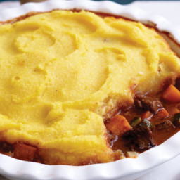 Slow-cooked beef pie with polenta topping