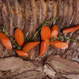 Slow-Cooked Brisket With Red Wine, Vinegar and Mustard