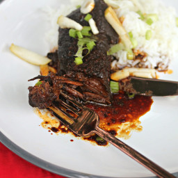 Slow-Cooked Korean Short Ribs With Green Onion and Pear Recipe