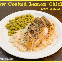 Slow Cooked Lemon Chicken with Brown Rice