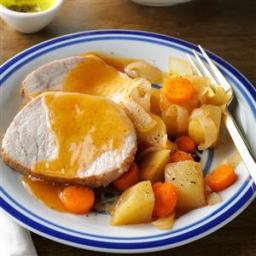 Slow-Cooked Pork Roast Dinner Recipe