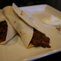 Slow-Cooked Southwestern-Style Barbecue Beef Burritos