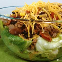 Slow Cooked Taco Chili (Salad)