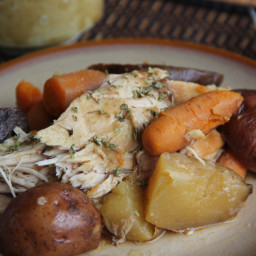 Slow Cooked Turkey Breast with Potatoes and Carrots