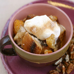 Slow Cooked Winter Bread Pudding with Dried Pears