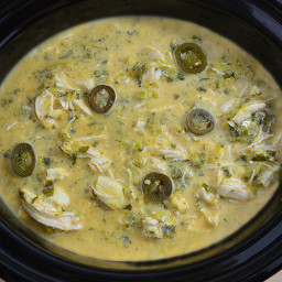 Slow Cooker 5-Ingredient Creamy Salsa Verde Chicken