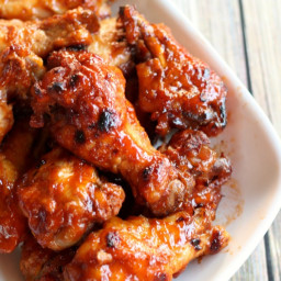 Slow Cooker Apricot BBQ Chicken Wings {Tailgating Recipes}