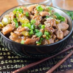 Slow Cooker Asian Cashew Chicken
