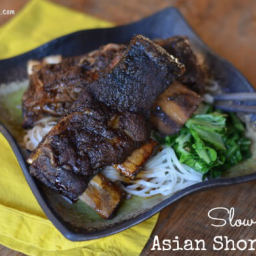 Slow Cooker Asian Short Ribs (with Soy Sauce Glaze)