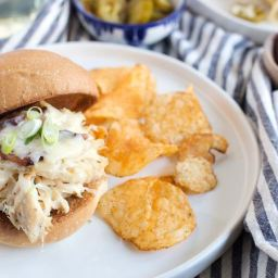 Slow-Cooker Bacon-Ranch Chicken Melts