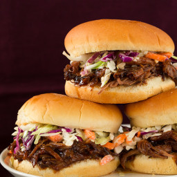 Slow Cooker Balsamic and Honey Pulled Pork Sandwiches and a Giveaway!