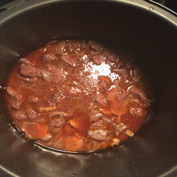 Slow cooker Beef Bourgignon