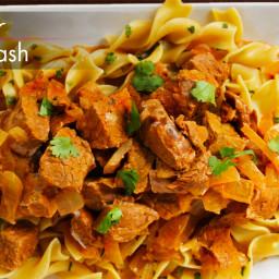 Slow Cooker Beef Paprikash