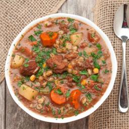 Slow Cooker Beef Vegetable Barley Stew