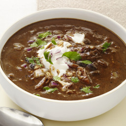 Slow-Cooker Black-Bean Soup with Turkey