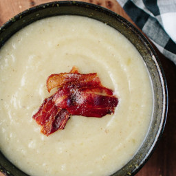 Slow-Cooker Celery Soup with Bacon
