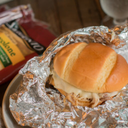 Slow Cooker Cheesy Cajun Pork Sandwiches