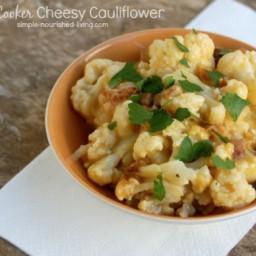 Slow Cooker Cheesy Cauliflower