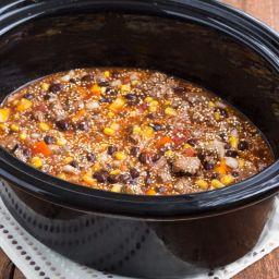 Slow Cooker Cheesy Enchilada Quinoa