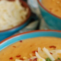 Slow Cooker Cheesy Potato Corn Chowder