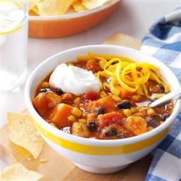 Slow Cooker Chicken  and  Sweet Potato Chili