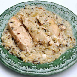 Slow Cooker Chicken and Wild Rice