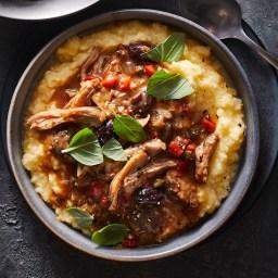 Slow-Cooker Chicken Cacciatore with Polenta