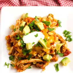 Slow Cooker Chicken Tortilla Casserole (Gluten Free)