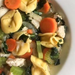 Slow Cooker Chicken Vegetable Tortellini Soup