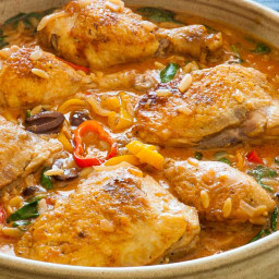 Slow Cooker Chicken with Orzo and Kalamata Olives