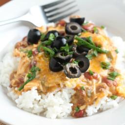Slow Cooker Chili Chicken Casserole