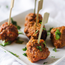 Slow Cooker Chipotle Meatballs