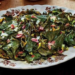 Slow-Cooker Collard Greens with Ham Hocks Recipe