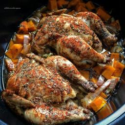 Slow Cooker Cornish Hens