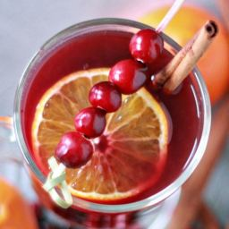 Slow Cooker Cranberry-Orange Mulled Wine