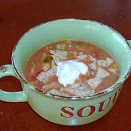 Slow Cooker Creamy Tortilla Soup