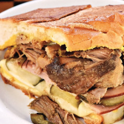 Slow-Cooker Cuban Pulled-Pork Panini Sandwiches