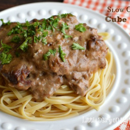 Slow Cooker Cube Steak in Mushroom Sauce