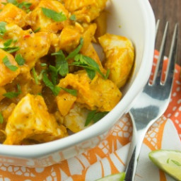 Slow Cooker Curried Chicken and Butternut Squash