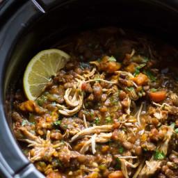 Slow Cooker Ethiopian Chicken & Lentil Stew