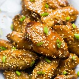 Slow Cooker Garlic Honey Teriyaki Chicken Wings