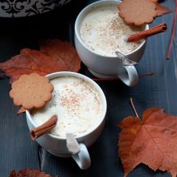 Slow Cooker Gingerbread Pumpkin Lattes