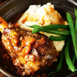 Slow-cooker Guinness lamb shanks