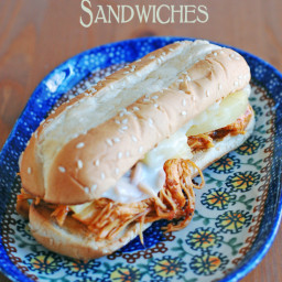 Slow Cooker Hawaiian BBQ Chicken Sandwiches – an easy twist on an old favor
