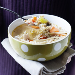 Slow Cooker Healthy Chicken Noodle Soup